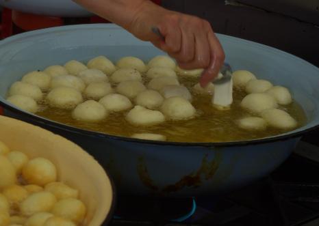 dough-into-oil